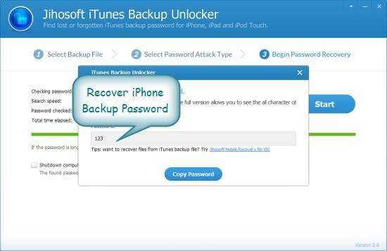 ripristinare il backup della password di itunes con l aiuto di uno strumento di terze parti