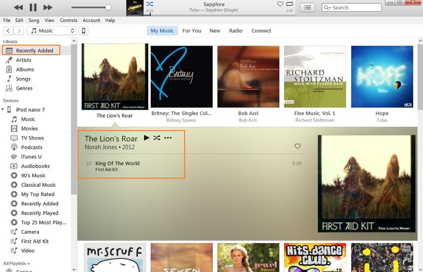 sincronizza la musica con ipod classic tramite itunes
