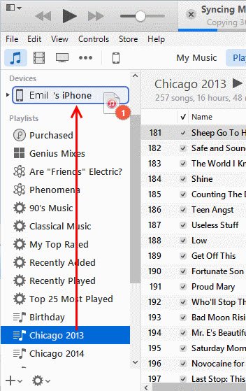 utilizzare tunesgo per trasferire le playlist da itunes per iphone