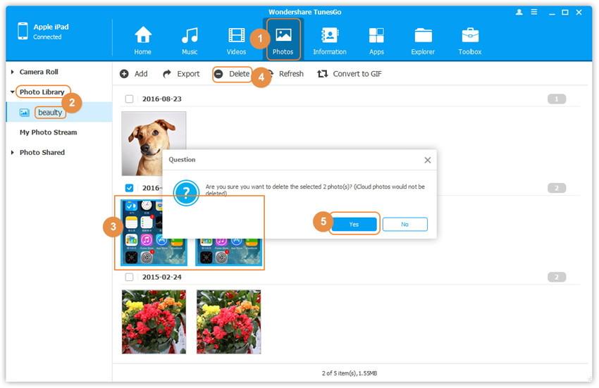 Verwijder iPad foto's - Hoe kan ik foto albums verwijderen van mijn ipad
