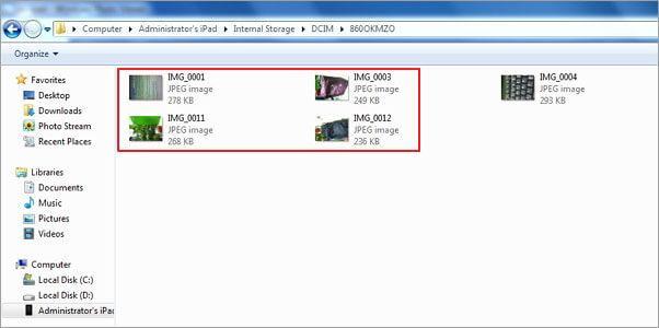 Verwijder iPad foto's - Verwijder foto's met een USB kabel