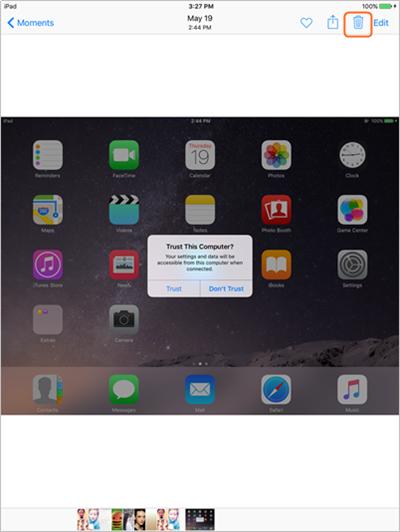 Verwijdere dubbele foto's op iPad