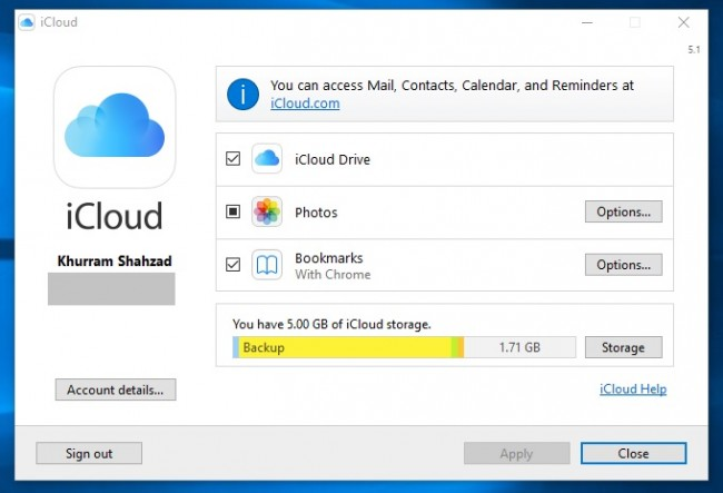 Transfer Pictures from iPad to SD Card with iCloud - Open iCloud or Windows