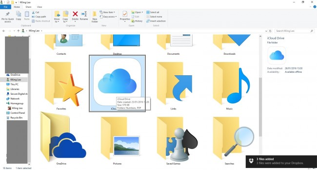 Transfer PDF Files from PC to iPad Using iCloud - Open iCloud Drive folder