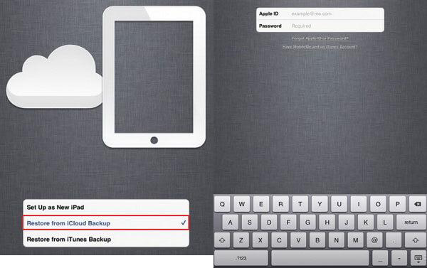 Move Files to iPad mini 2 - Restore iPad mini2 from iCloud Backup