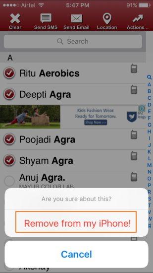 Hoe kan je contacten verwijderen op iPhone met een iPhone App