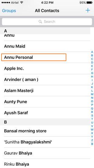Hoe kan je Contacten verwijderen op de iPhone handmatig