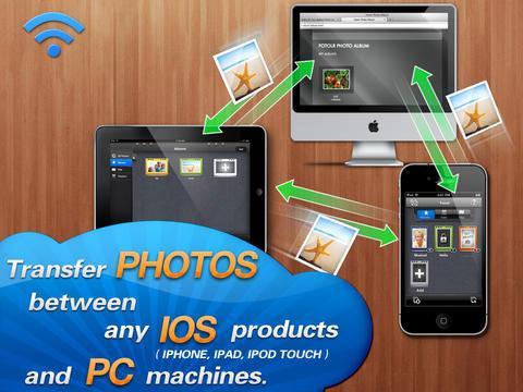 Foto's verplaats app voor iPad