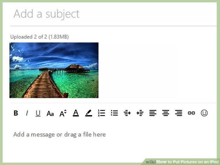 Verplaats foto's van de computer naar de iPod Touch-met Email