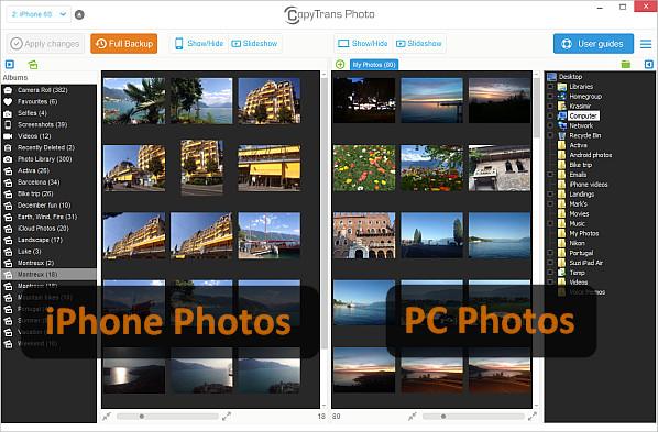 Verplaats foto's van de computer naar de iPod Touch-CopyTrans Photo