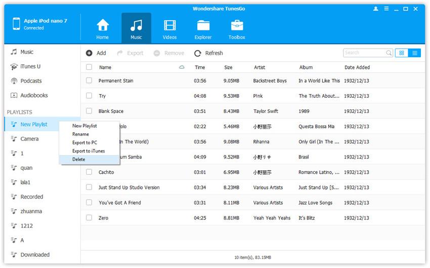 Hoe kan je muziek verwijderen van je iPod Nano - Verwijder Playlist