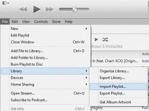 Kopieër afspeelijsten van Ipod naar itunes -import playlist