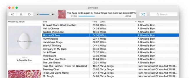 iTunes Alternativen voor Mac-swinsian