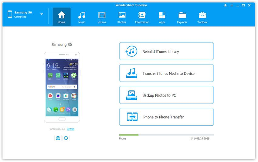 Wondershare TunesGo PC suite for Android