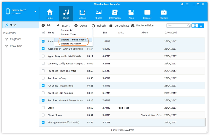 lg mobile manager - export lg music playlist to pc