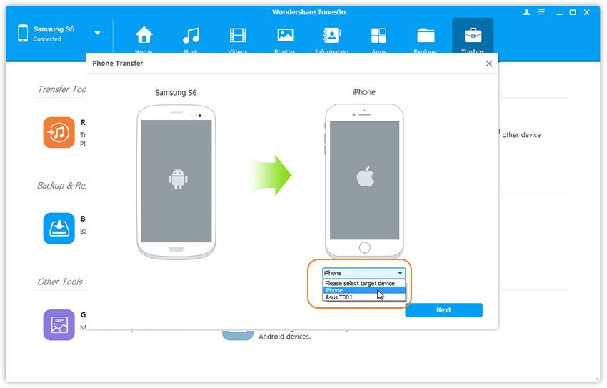 how to transfer photos from Samsung android to iphone 7
