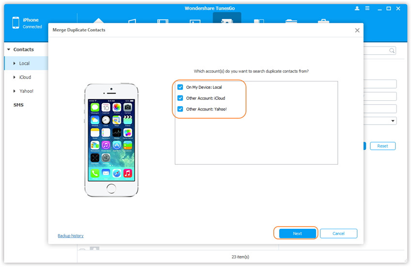 Manage Contacts on iPhone/iPad/iPod touch - Find & Remove Duplicate Contacts on Your iPhone/iPad/iPod touch