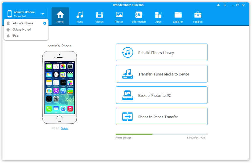 sync contacts from iphone to Samsung phone