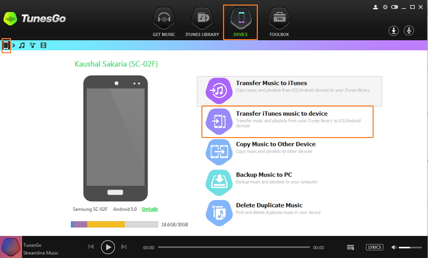 how to add music to android from itunes