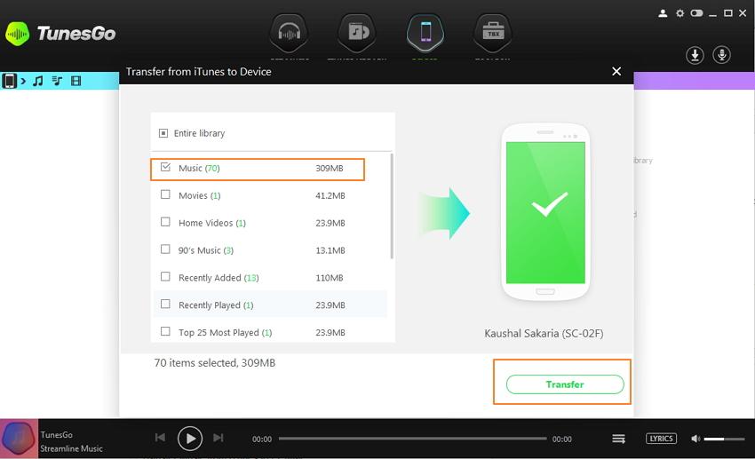 how to buy itunes music on android